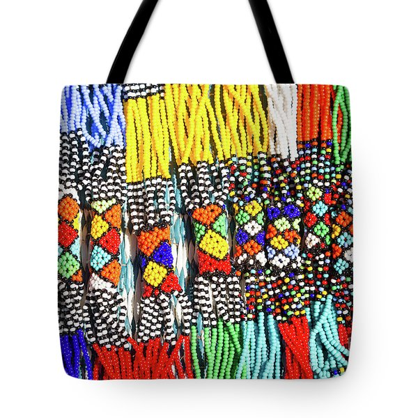 African Tribal Necklaces Tote Bag