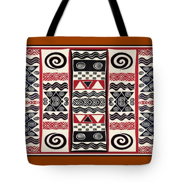 African Tribal Ritual Design Tote Bag