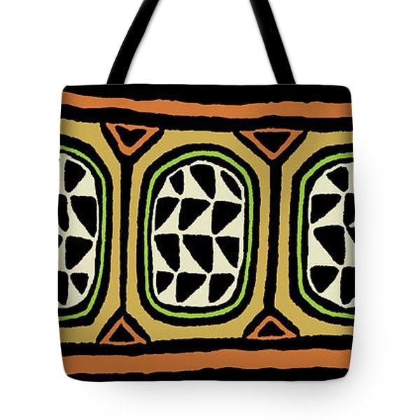 Tote Bag featuring the digital art African Tribal Textile by Vagabond Folk Art - Virginia Vivier
