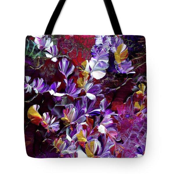 African Violet Awake #4 Tote Bag