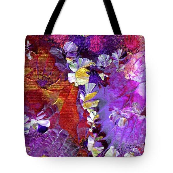 African Violet Awake #5 Tote Bag