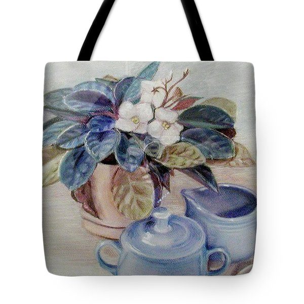 African Violet Still Life Tote Bag by Martha Ayotte