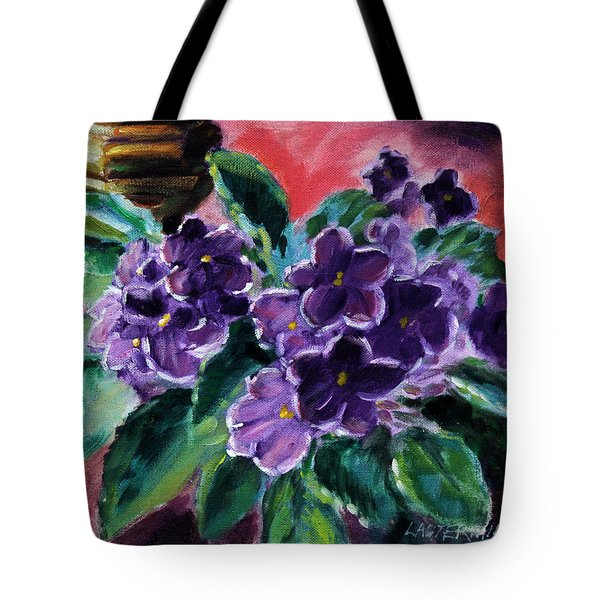 African Violets Tote Bag by John Lautermilch