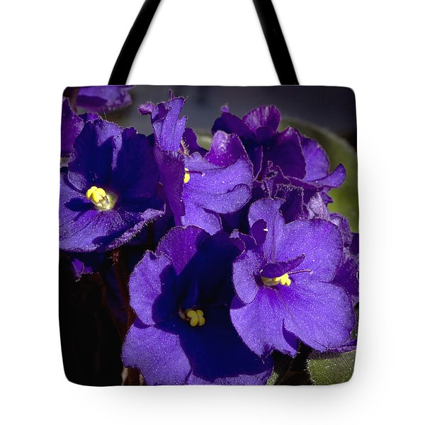 Tote Bag featuring the photograph African Violets by Phyllis Denton