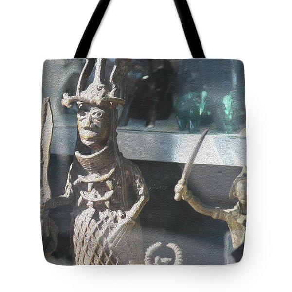 African Warrior Figurine Tote Bag