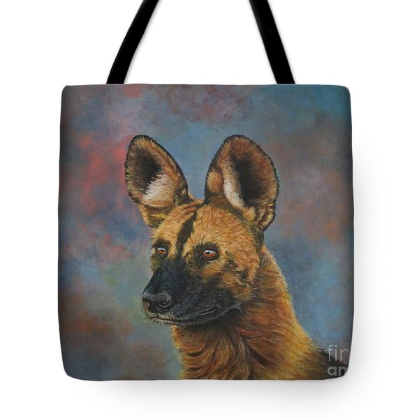 African Painted Wild Dog Tote Bag