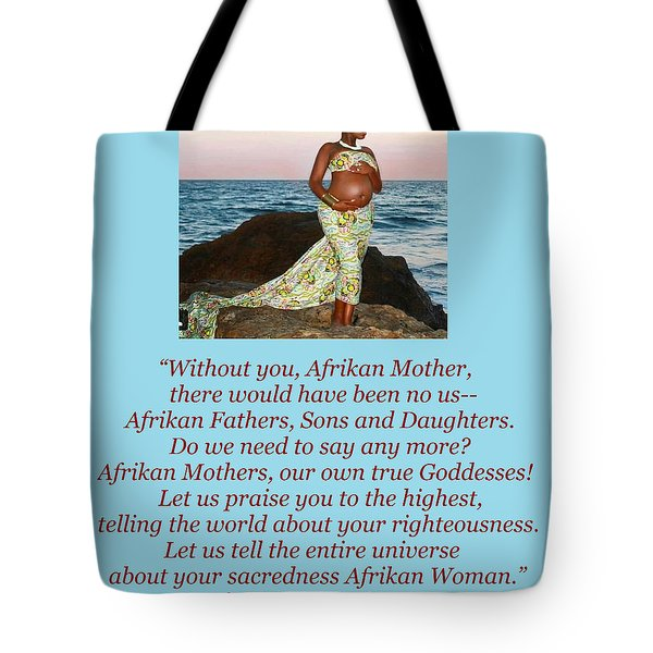 Afrikan Mother Tote Bag