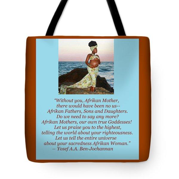 Afrikan Mother Tote Bag