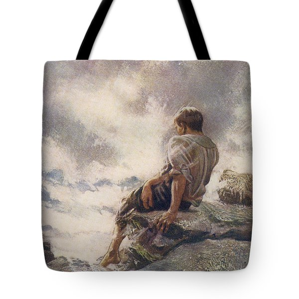 After Being Shipwrecked Robinson Crusoe Tote Bag