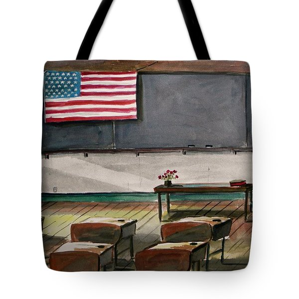 Tote Bag featuring the painting After Class by John Williams