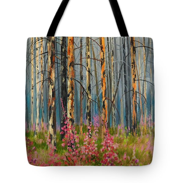 After Forest Fire Tote Bag