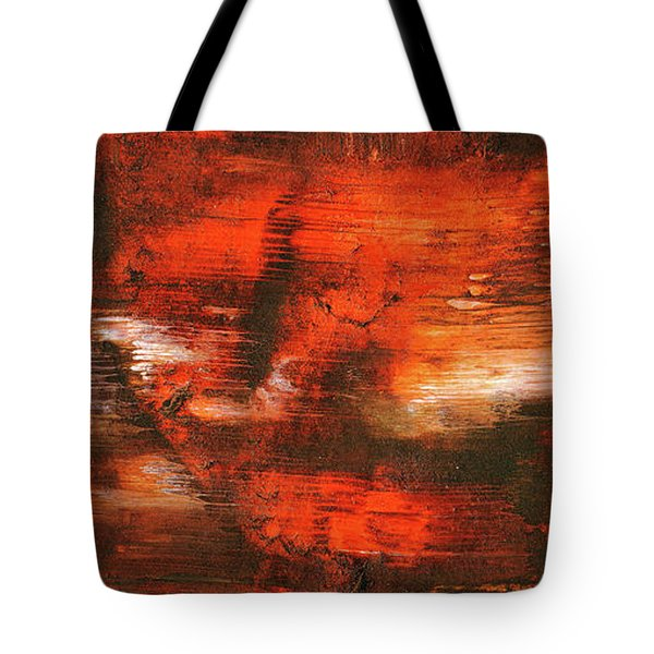 After Midnight - Black Orange And White Contemporary Abstract Art Tote Bag