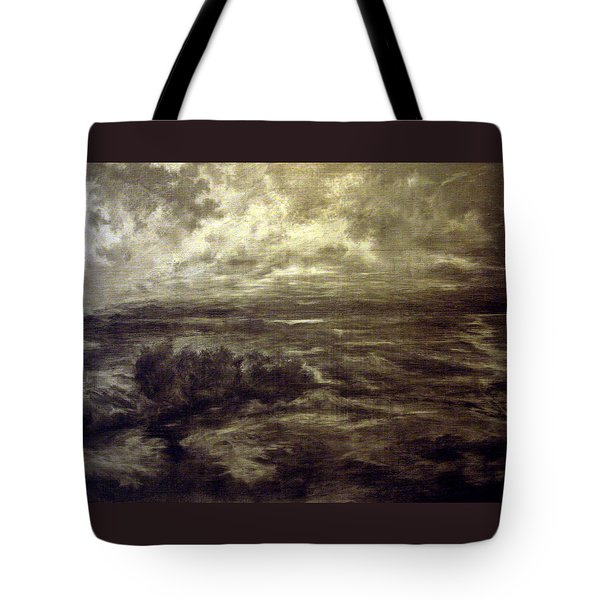 Tote Bag featuring the drawing After Rain by Mikhail Savchenko
