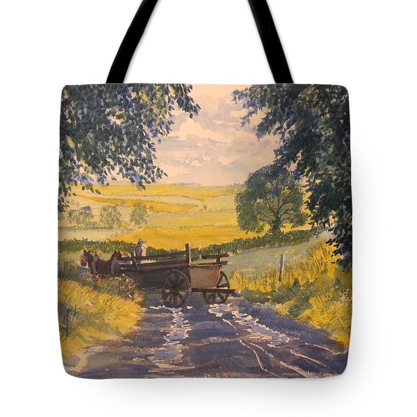 After Rain On The Wolds Way Tote Bag
