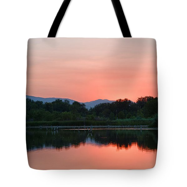 Tote Bag featuring the photograph After Sunset by Monte Stevens