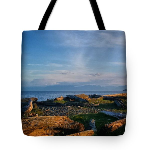 After Supper Relaxing At The Lagoon! Tote Bag