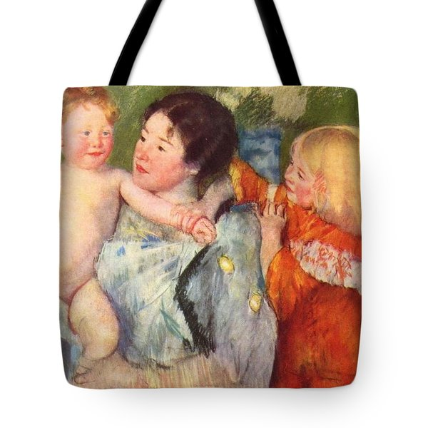 After The Bath Tote Bag by Cassatt