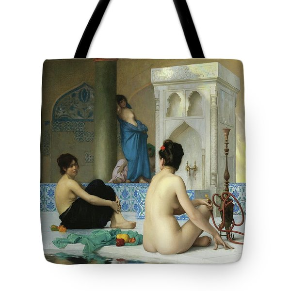 After The Bath, Jean Leon Gerome Tote Bag