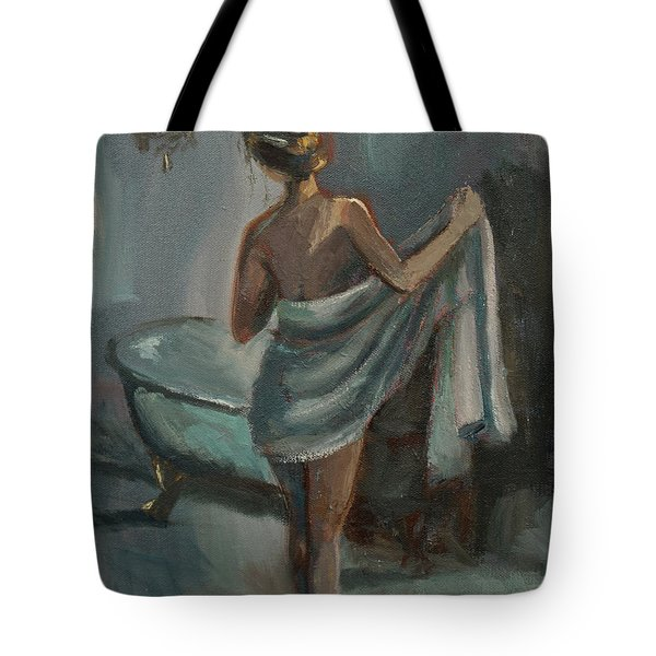 Tote Bag featuring the painting After The Bath by Jennifer Beaudet