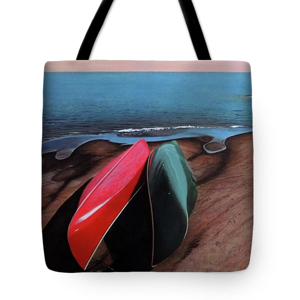 Tote Bag featuring the painting After The Crossing by Kenneth M Kirsch