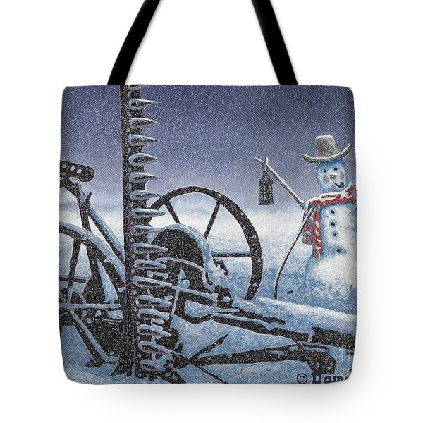 After The Harvest Snowman Tote Bag by John Stephens