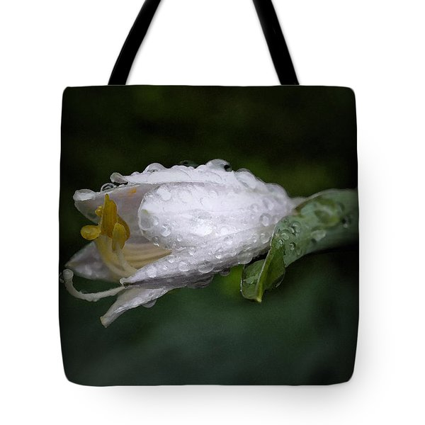 After The Rain - Hosta Macro Tote Bag