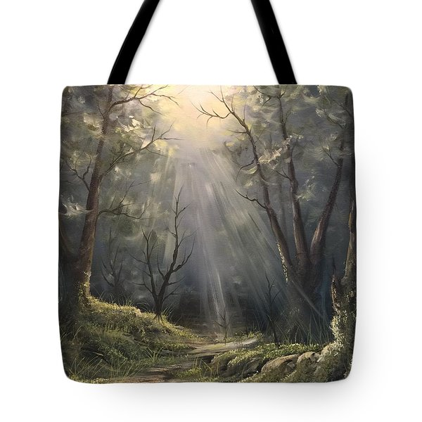 After The Rain  Tote Bag by Paintings by Justin Wozniak