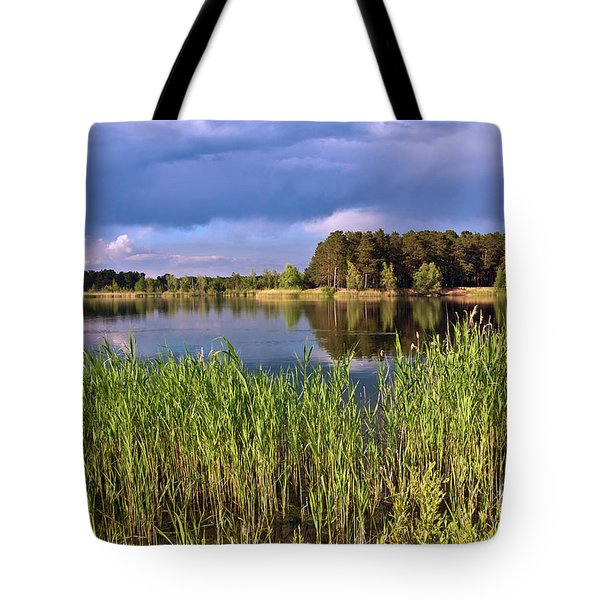 Tote Bag featuring the photograph After The Rain Poetry by Silva Wischeropp
