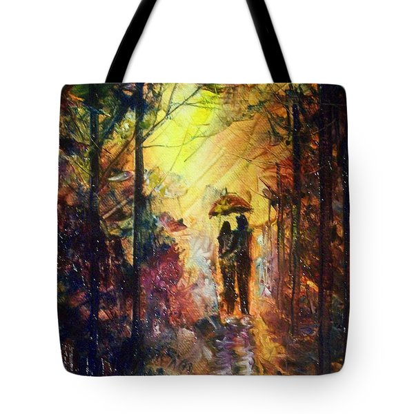 Tote Bag featuring the painting After The Rain by Raymond Doward