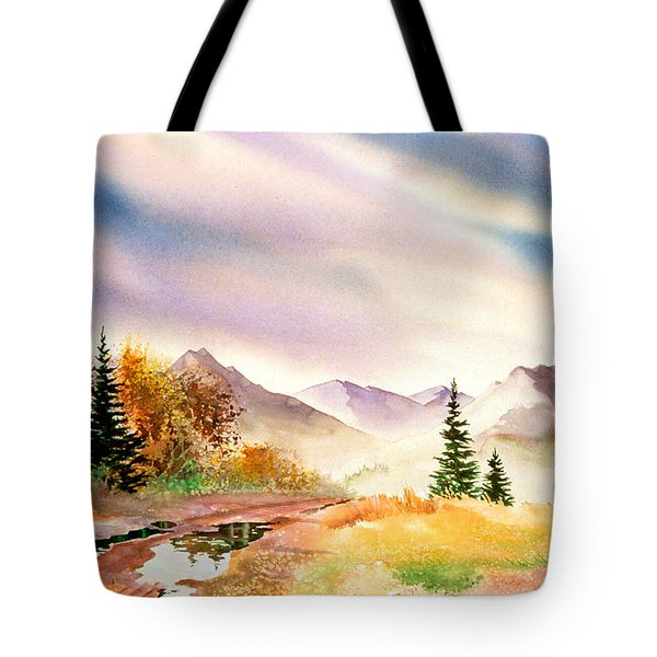 Tote Bag featuring the painting After The Rain by Teresa Ascone