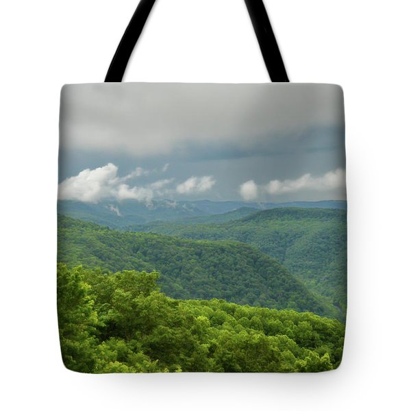 Tote Bag featuring the photograph After The Rain - The Bluestone Gorge At Pipestem State Park by Kerri Farley