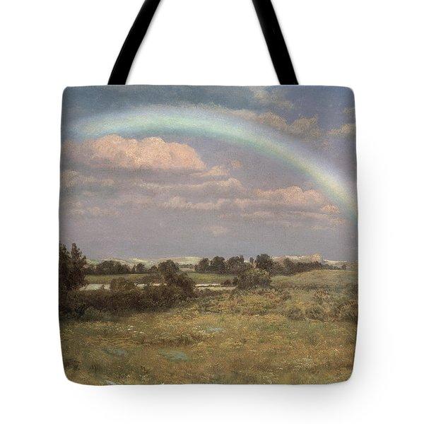 After The Storm Tote Bag by Albert Bierstadt