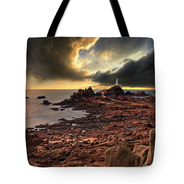 after the storm at La Corbiere Tote Bag