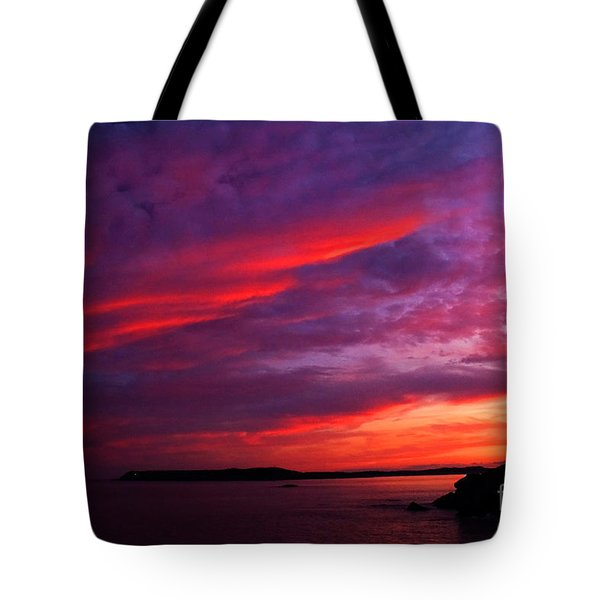 Tote Bag featuring the photograph After The Storm Sunset by Alana Ranney