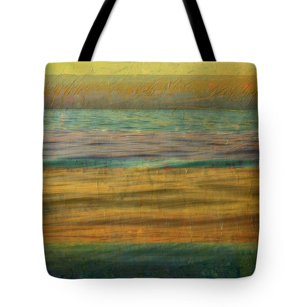 Tote Bag featuring the photograph After The Sunset - Yellow Sky by Michelle Calkins
