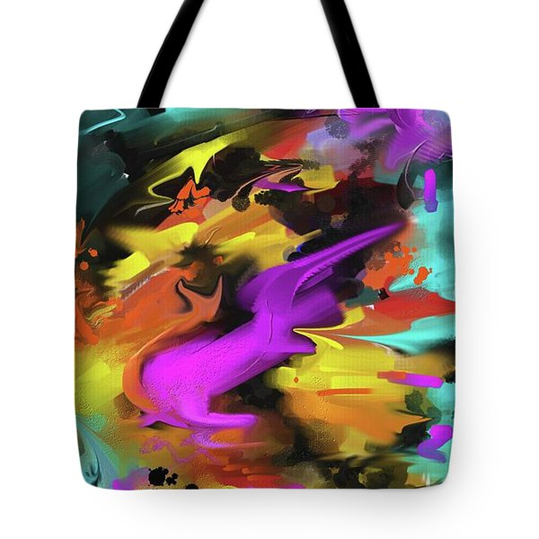 Tote Bag featuring the painting After Work by S G