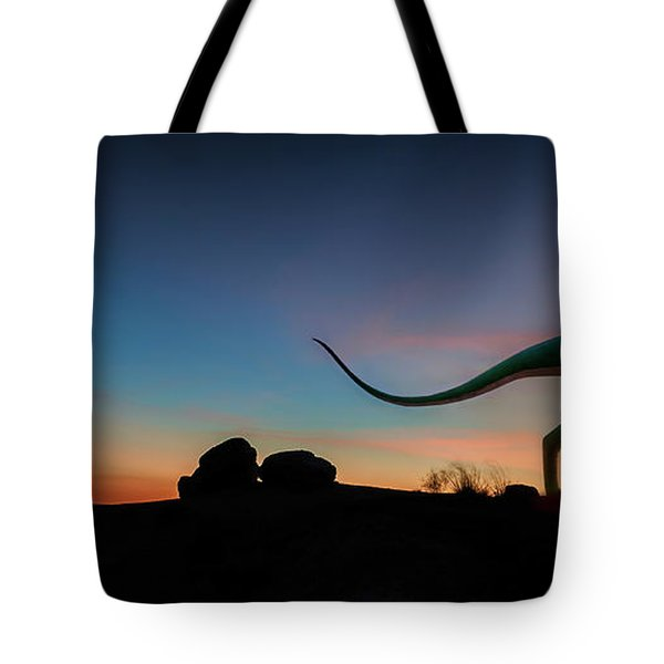 Afterglow Dinosaur Tote Bag by Gary Warnimont