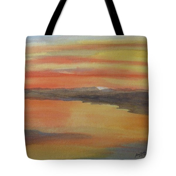 Tote Bag featuring the painting Afterglow by Joel Deutsch