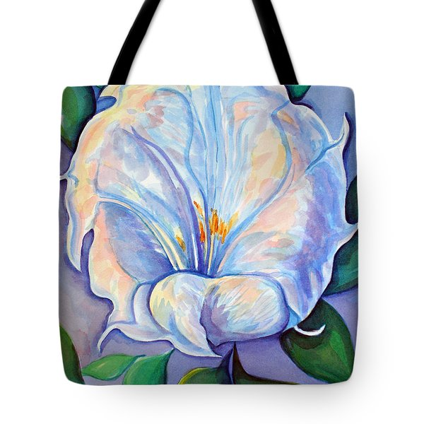 Tote Bag featuring the painting Afterglow by Lynda Lehmann