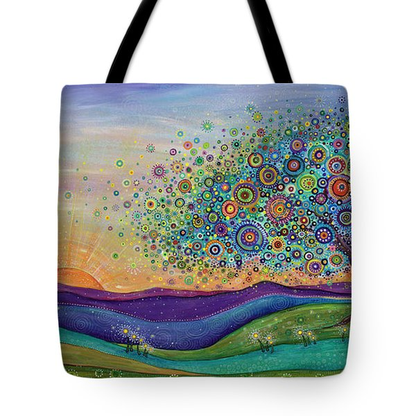 Tote Bag featuring the painting Afterglow - This Beautiful Life by Tanielle Childers