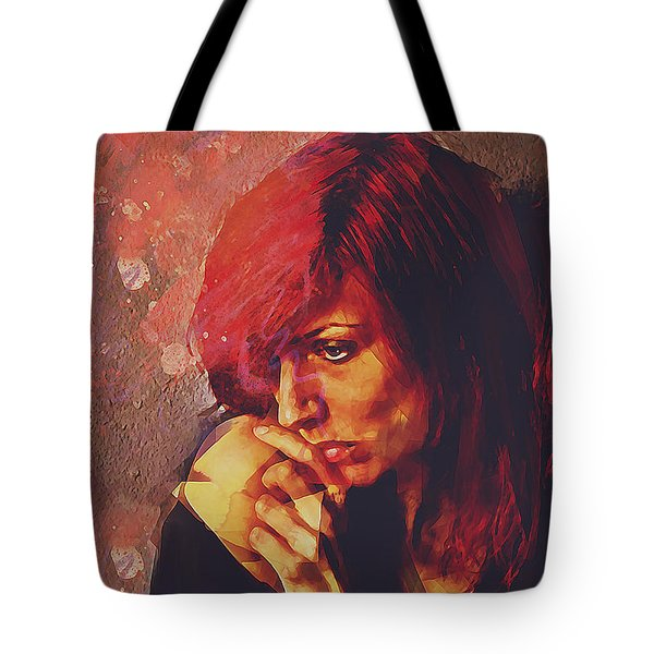 Tote Bag featuring the digital art Afterimage by Galen Valle