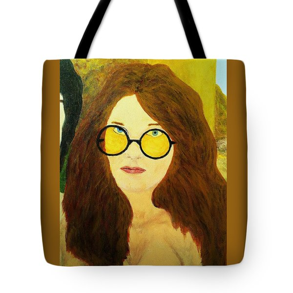 Afterlife Concerto Janis Joplin Tote Bag by Rand Swift