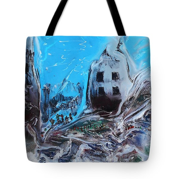 Tote Bag featuring the mixed media Aftermath 1 by Angela Stout
