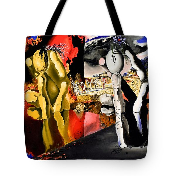 Aftermath Of Narcissus - After Dali- Tote Bag