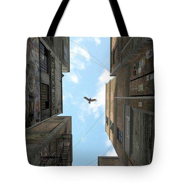 Afternoon Alley Tote Bag