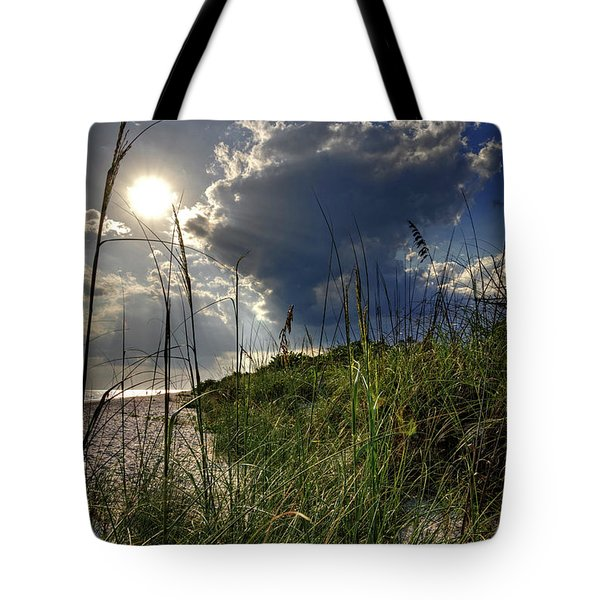 Tote Bag featuring the photograph Afternoon At A Sanibel Dune by Chrystal Mimbs
