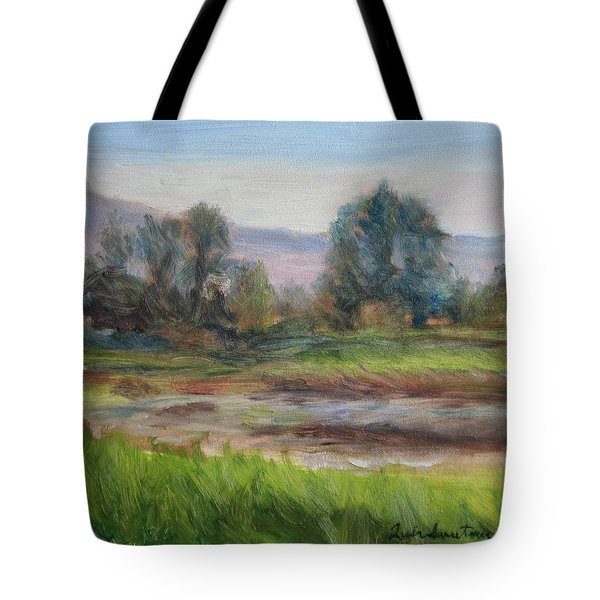 Afternoon At Sauvie Island Wildlife Viewpoint Tote Bag