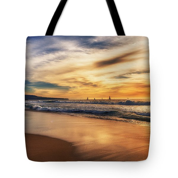 Tote Bag featuring the photograph Afternoon At The Beach by Michael Hope