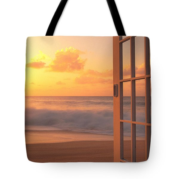 Afternoon Beach Scene Tote Bag by Dana Edmunds - Printscapes
