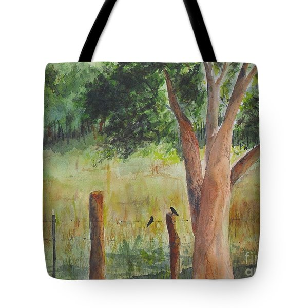 Tote Bag featuring the painting Afternoon Chat by Vicki  Housel